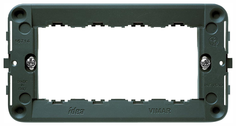grigio Vimar 0R16714 Idea Supporto a muro 4M con viti