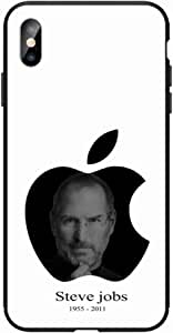 Okteq Case for iphone XS Max Shock Absorbing PC TPU Full Body Drop Protection Cover matte printed - steve jobs By Okteq