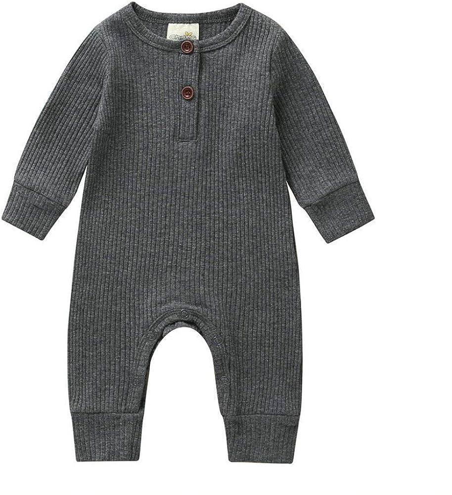 Baby Jungen M/ädchen Kleidung Strick Strampler Jumpsuit Bodysuit Einteiler Pyjama Ribbed Outfit Kleidung