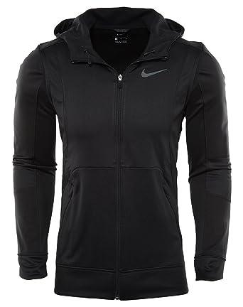 427c050757ba Nike Therma Hyper Elite Basketball Hoodie Black Black Iridescent Men s  Sweatshirt