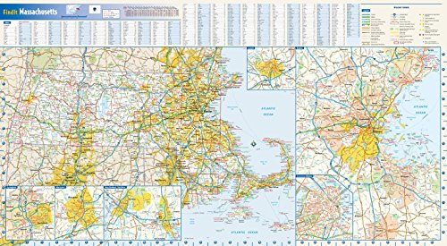 Area Wall Map - Massachusetts State Wall Map - 30.5
