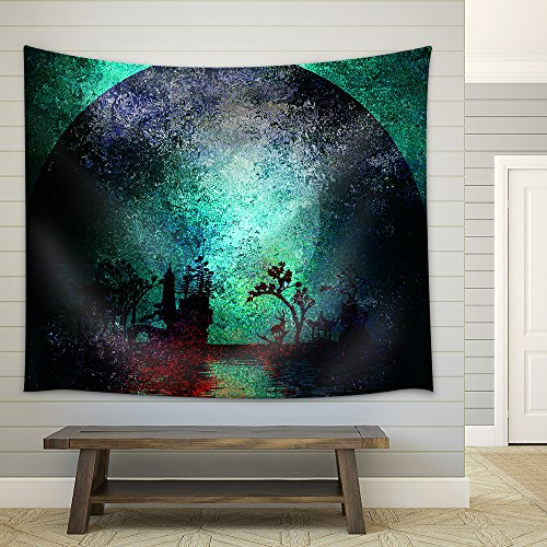 Asia Landscape Textured Painting Fabric Wall Tapestry