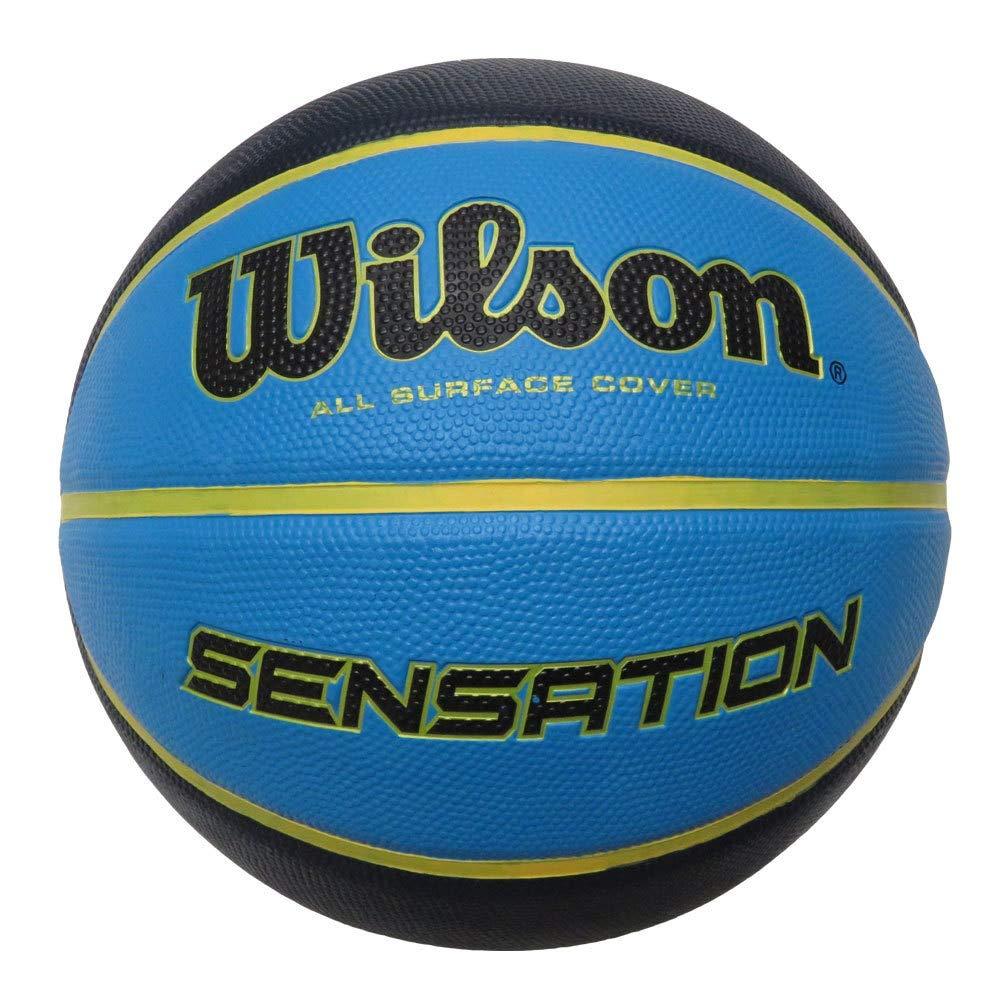 Wilson Sensation Ballon de Basket Taille 7 [Bleu/Noir]