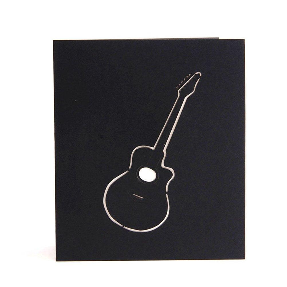 ROSENICE 3D Pop Up tarjetas de felicitación tarjeta de regalo de guitarra para cumpleaños boda Navidad: Amazon.es: Hogar