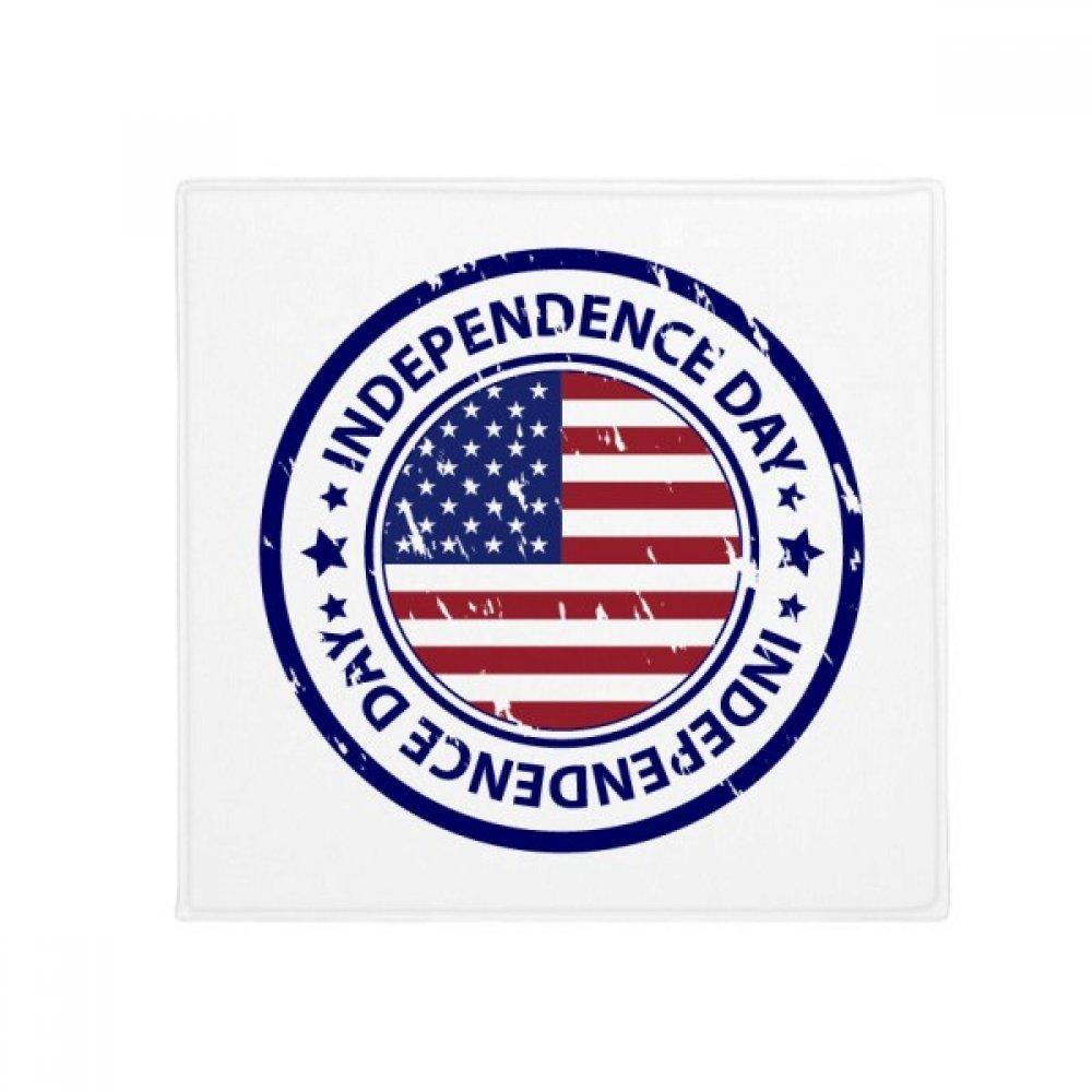 DIYthinker USA Independence Day Flag Postmark Pattern Anti-Slip Floor Pet Mat Square Home Kitchen Door 80Cm Gift
