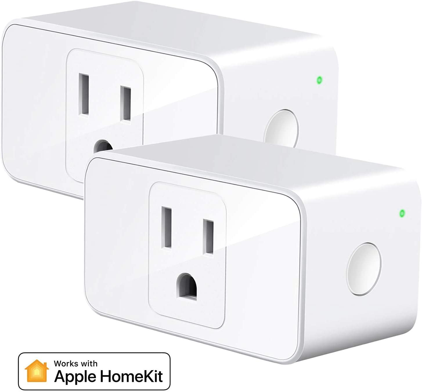 Meross Smart Plug Mini, 16A & Reliable WiFi, Support Apple HomeKit, Siri, Alexa, Echo, Google Assistant, Nest Hub, App Control, Timer, No Hub Needed, 2 Pack