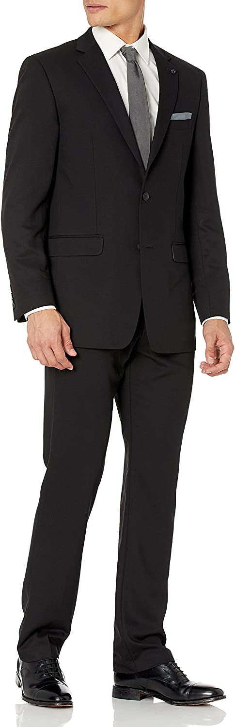 Credence Perry Ellis Men's Two Piece Bottom Finished Suit Ultra-Cheap Deals Fit Slim