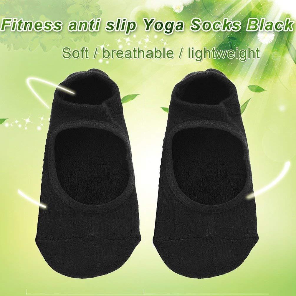 Anti-Skid da Uomo TAOHOU 1 Paio di Calzini da Yoga per Donna Calzini da Fitness Traspiranti Neri