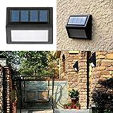 LiPing Outdoor Decorative Lights-New 6 LED Solar Power Light Sensor Wall Light Garden Step Stair Deck Lights Lamp (A)