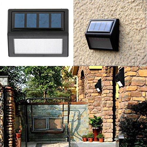 - LiPing Outdoor Decorative Lights-New 6 LED Solar Power Light Sensor Wall Light Garden Step Stair Deck Lights Lamp (A)