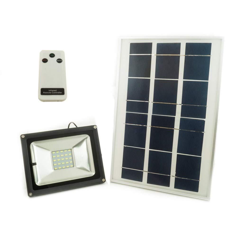 liquidazione fino al 70% TrAdE Shop Traesio - Faro LED A ENERGIA ENERGIA ENERGIA Solare con Pannello FOTOVOLTAICO CREPUSCOLARE + Telecomando W - 50W  prezzi bassissimi