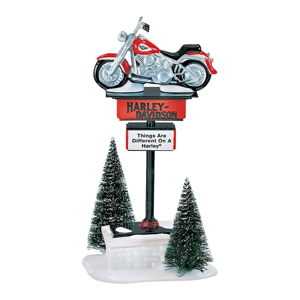 Dept 56 The Original Snow Village Harley Davidson Sign Things are Different on a Harley