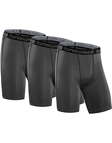 Isnowood Men s 3 Pack Performance Compression Shorts bec339363