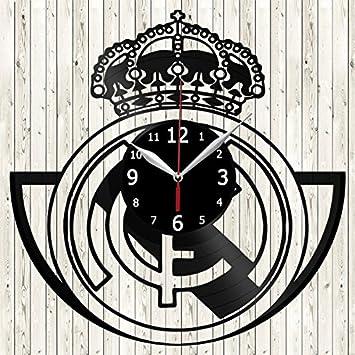 Vinyl Love Real Madrid - Reloj de Pared de Vinilo, Hecho a Mano, diseño único, Regalo Original: Amazon.es: Hogar