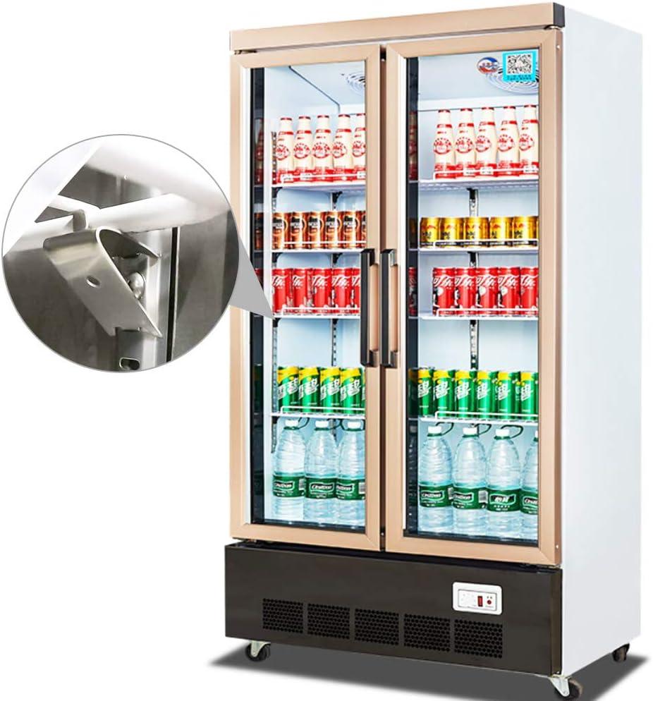 Juego de 8 pinzas cuadradas para estante de refrigerador kit de accesorios incluye 2 raspadores de hielo para congelador de acero inoxidable SNAGAROG para estante de congelador