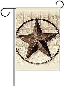 Fornate Western Star Texas Garden Flag, Holiday Celebrate Garden Decor Flag,12