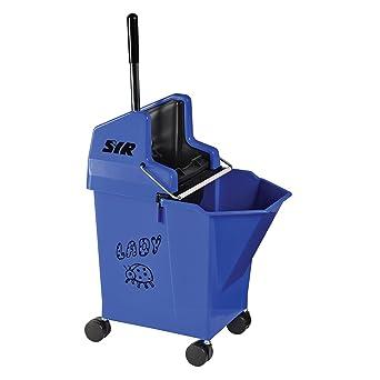 Cubo de fregar SYR limpiar hbs043-bl Kentucky y soporte de Combo, Azul