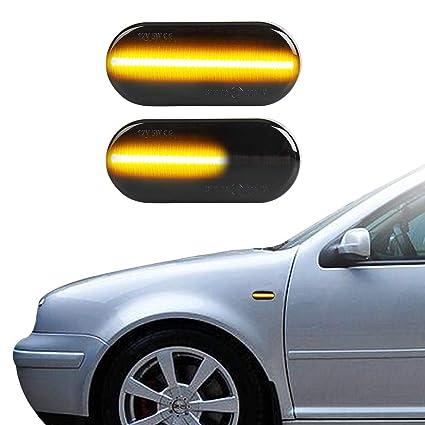 LED Marcadoras Laterales Lámpara de Intermitente, Ámbar Dinámica ...