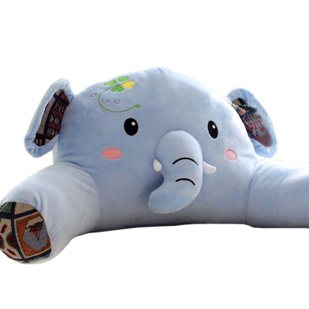 Plush Elephant Kids Bedrest Pillow with Arms