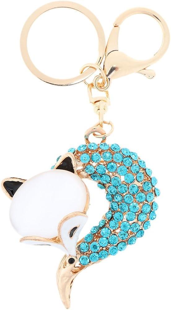 TM PyLios Hollow Shinning Rhinestone Fox Pendant Key Ring Fashional Jewelry High Quality Keychain