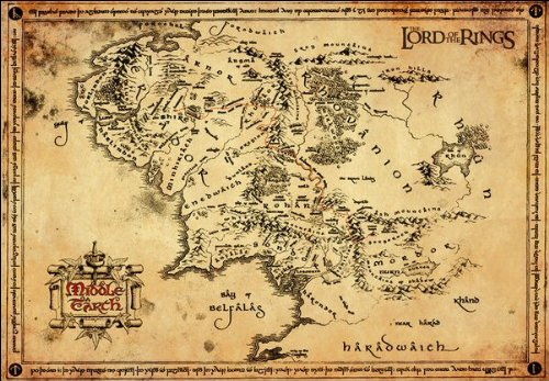 Lord Of The Rings Parchment Map Parchment Map Amazoncouk – Lord of the Rings Map Middle Earth