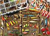 jigsaw puzzle fishing - Cobble Hill Fishing Lures Small Box Jigsaw Puzzle 1000 Pieces