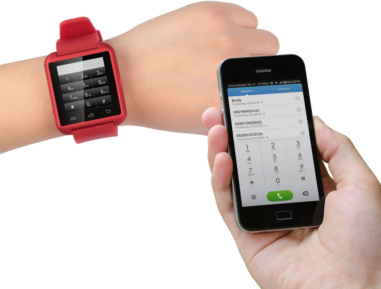 Reloj inteligente con pantalla táctil, Bluetooth, SNT World U8 U ...