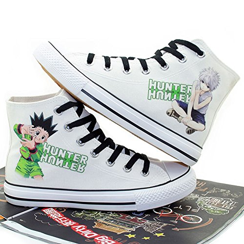 Gon Cosplay Costume (Hunter X Hunter GON FREECSS Cosplay Shoes Canvas Shoes Sneakers)