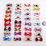 Blyyasgi Puppy Dog Cute Hair Bows Pets for Grooming Pet Charms Hair Accessories (200PCS)
