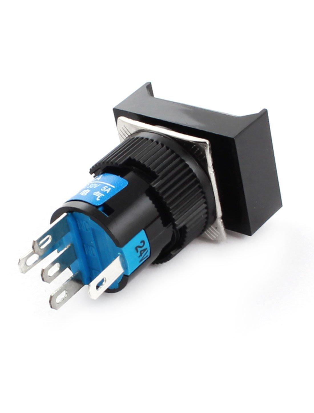 Interruptor DC 24V Lámpara piloto pulsador SPDT de bloqueo w Conectores Hembra: Amazon.es: Bricolaje y herramientas
