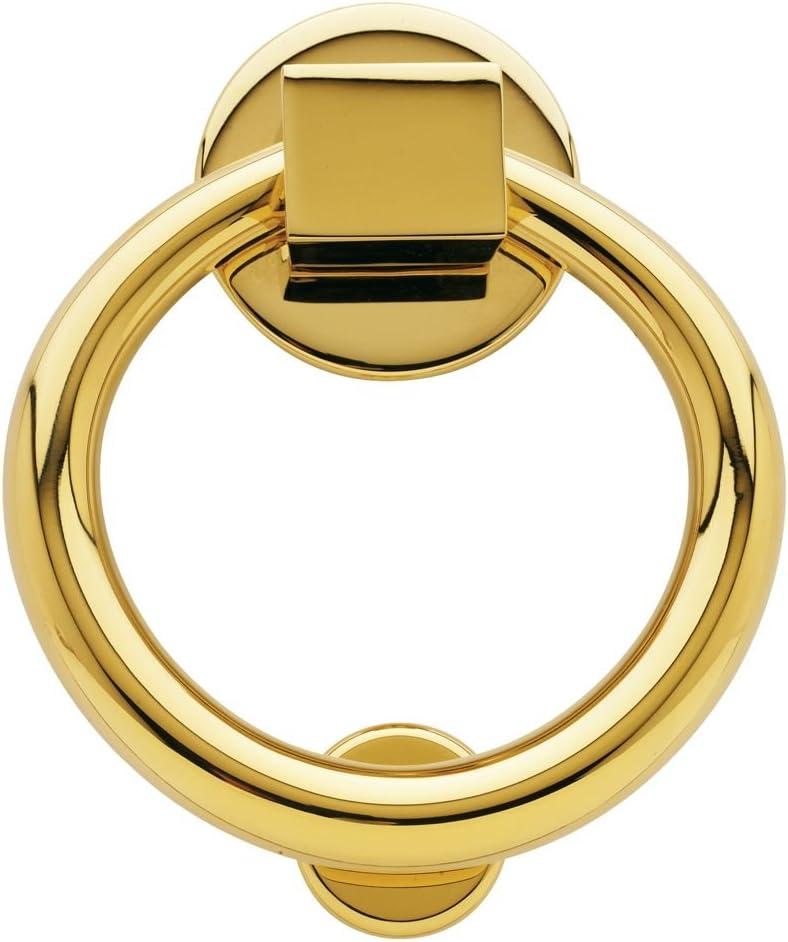 Baldwin 0195055 Ring Door Knocker Lifetime Bright Nickel