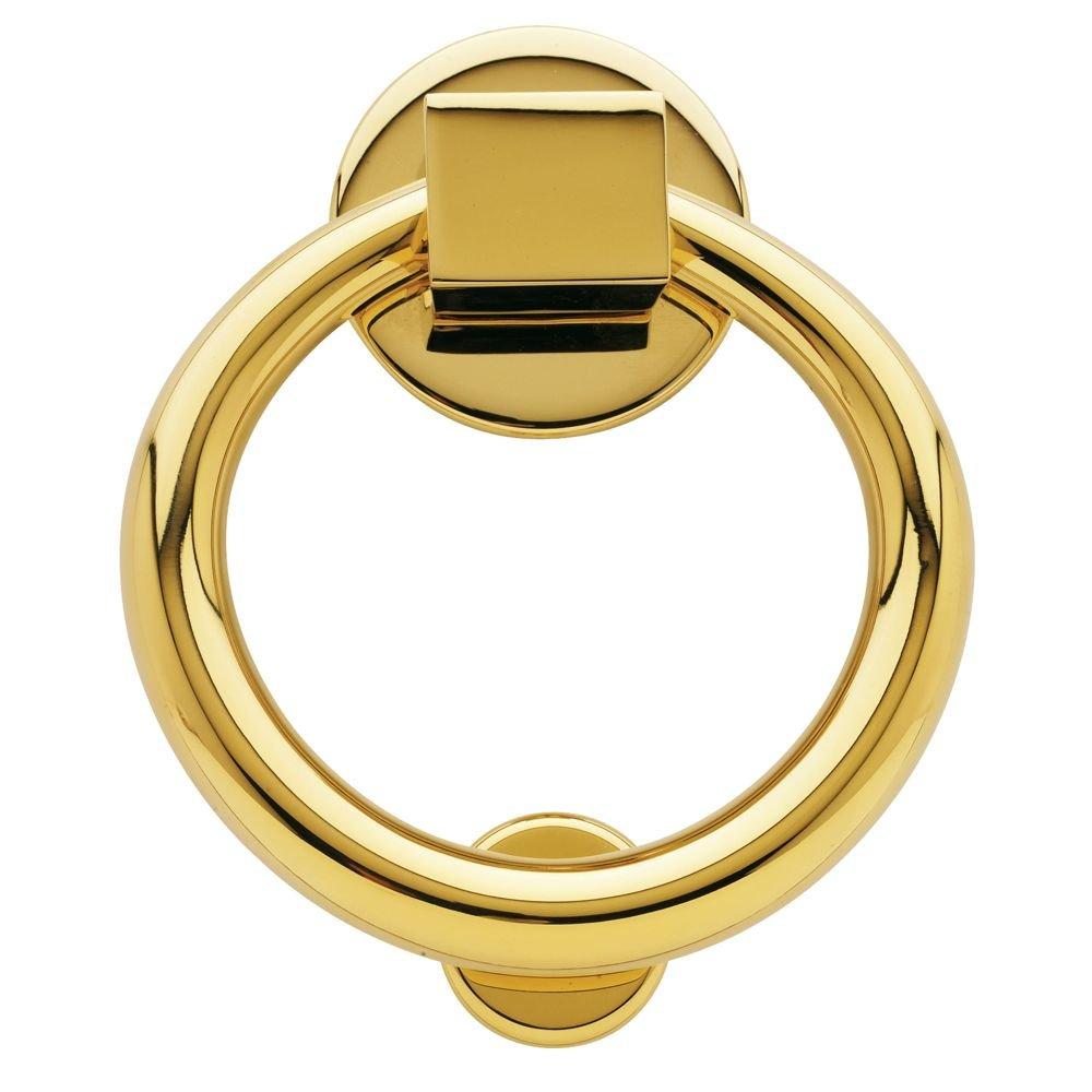 Baldwin 0195003 Ring Door Knocker, Lifetime Brass