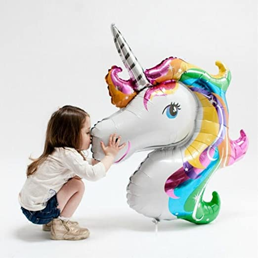 Czemo Globos Unicornio Helio, Globo de Aluminio Gigante Unicornio para Cumpleaños Decoración de Fiesta: Amazon.es: Juguetes y juegos