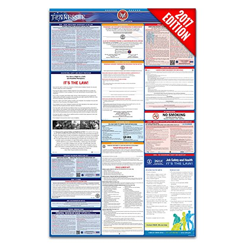 2017 Tennessee Labor Law Poster – State & Federal Compliant – Laminated