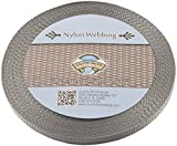 Country Brook Design | 3/8 Inch Silver Heavy Nylon Webbing, 20 Yards