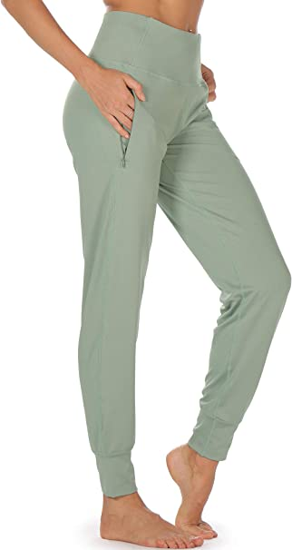 icyzone Damen Hose Jogginghose Lang Sweathose Sporthose Trainingshose Running Gym Pants