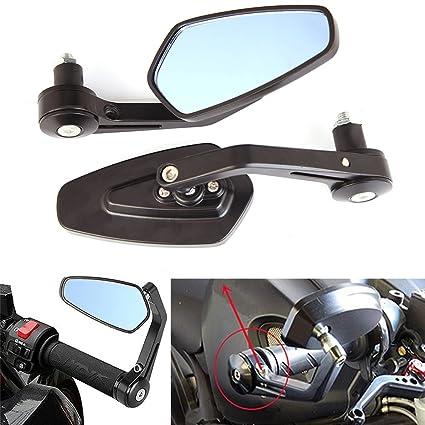 Espejos laterales universales ajustables para motocicleta de 7/8 ...