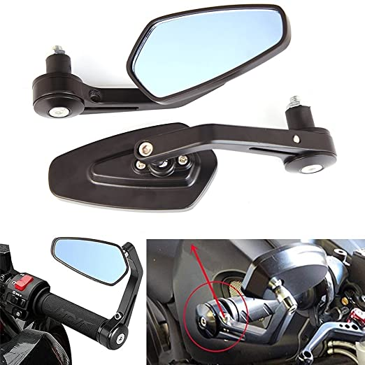"""1 opinioni per Universale 7/8"""" 22MM Moto Specchietti Retrovisori Laterali Per Triumph Ducati"""