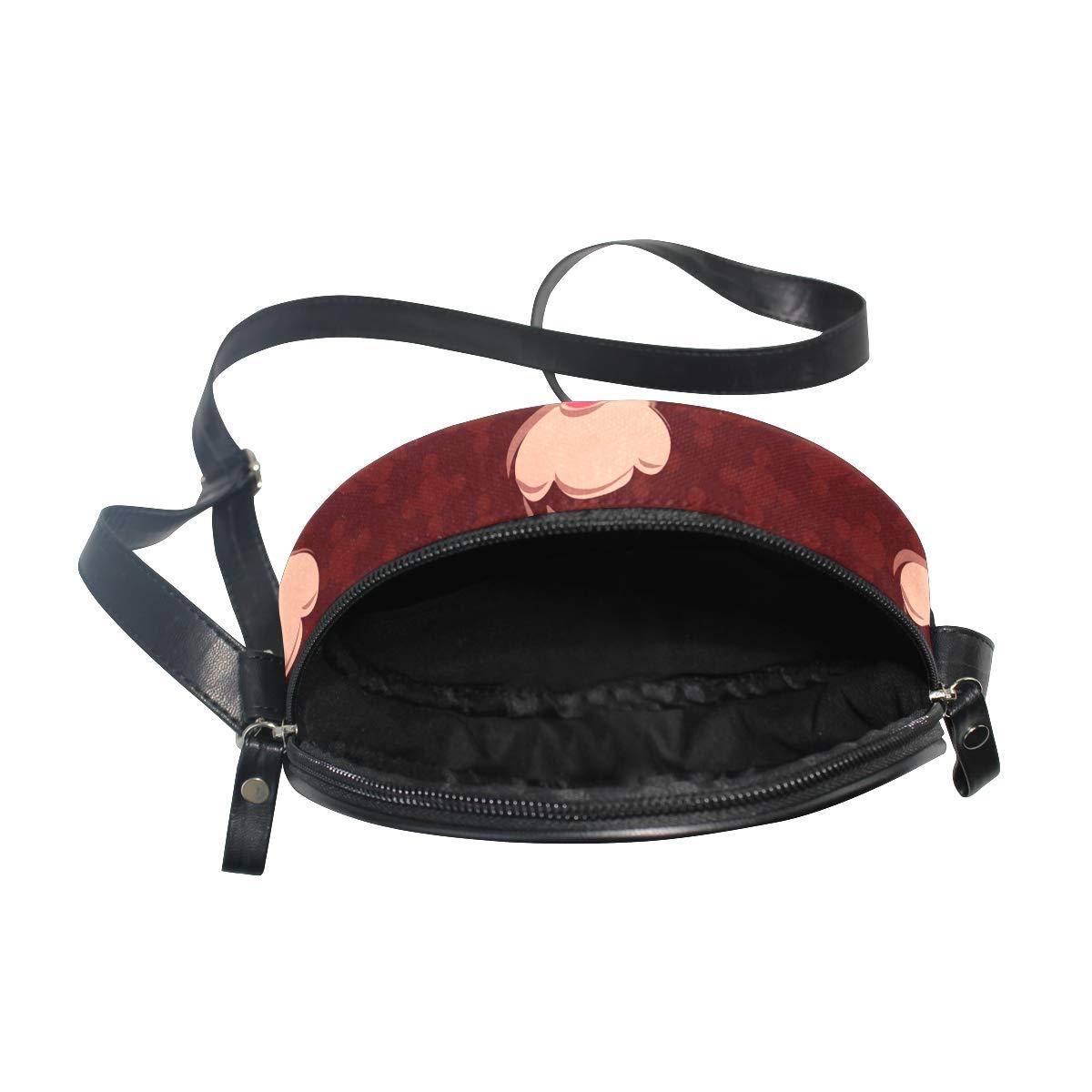 KEAKIA Cherry Cupcakes Round Crossbody Bag Shoulder Sling Bag Handbag Purse Satchel Shoulder Bag for Kids Women
