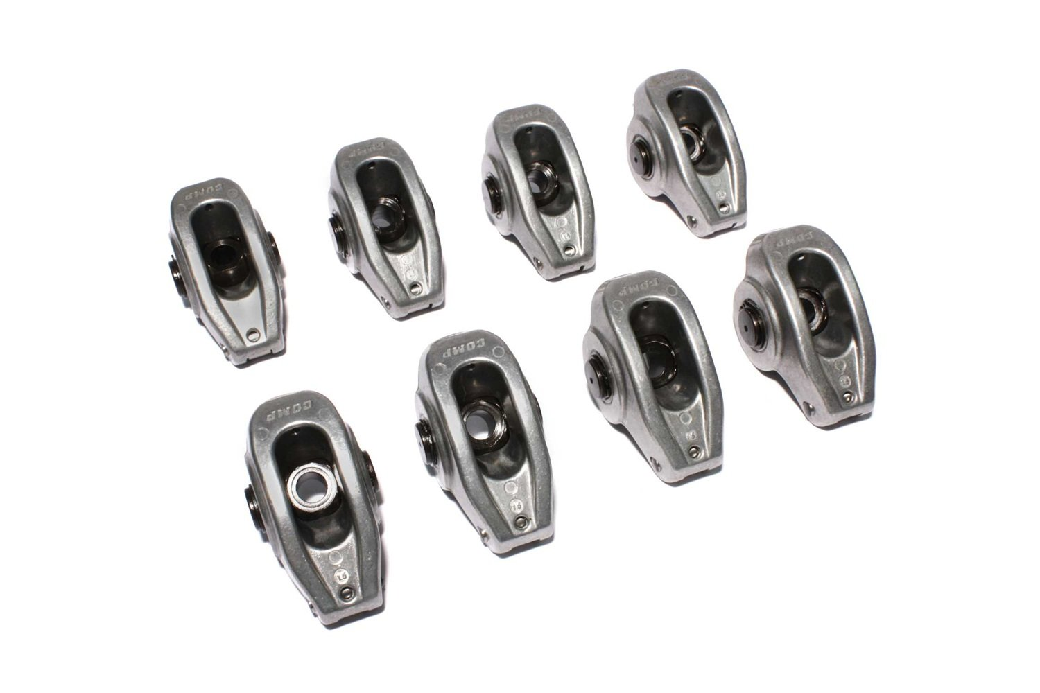 COMP Cams 17004-8 High Energy Die Cast Aluminum Roller Rocker Arm with 1.5 Ratio and 7/16'' Stud Diameter for Small Block Chevrolet, (Set of 8) by Comp Cams