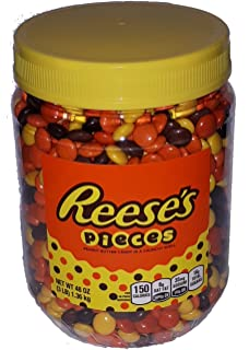 Reeses Pieces Peanut Butter Candy in A Crunchy Shell (48oz ...