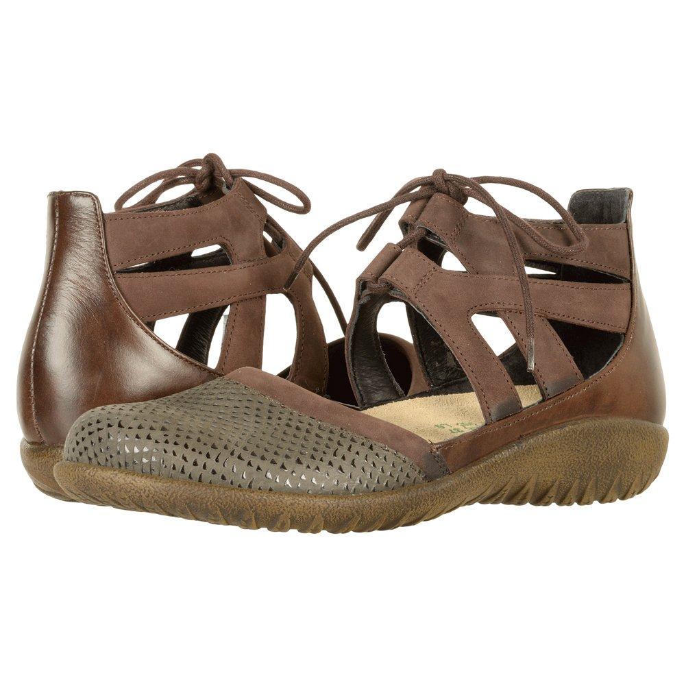 Naot Footwear Women's Kata B01N6TAZ89 8 B(M) US|Brown Croc Leather/Coffee Bean Nubuck/Pecan Brown Leather