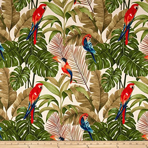 (14 Karat Home 0547313 Tropical Macaw Verde Fabric by The Yard)