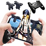 Mobile Game Controller [Bundle], PUBG Mobile Controller with Triggers, Shoot and Aim buttons for Touchscreen devices, Trigger, Mobile Grip, Joystick for Phone Gaming