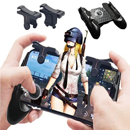 Mobile Game Controller [Bundle], PUBG Mobile Controller with Triggers,  Shoot and Aim buttons for Touchscreen devices, Trigger, Mobile Grip,  Joystick