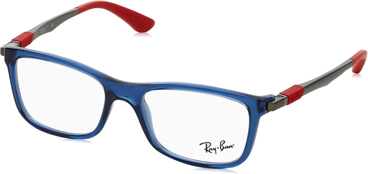 5f6c122c8d Amazon.com  Ray-Ban RY1549 Eyeglass Frames 3734-48 - Trasparent Blue ...