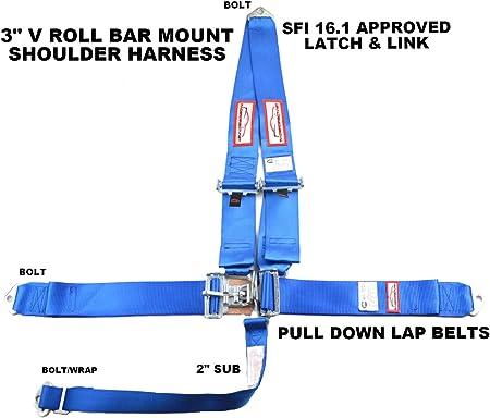 Racerdirect.net Purple Racing Harness Latch /& Link 5 Point Floor Mount SFI 16.1