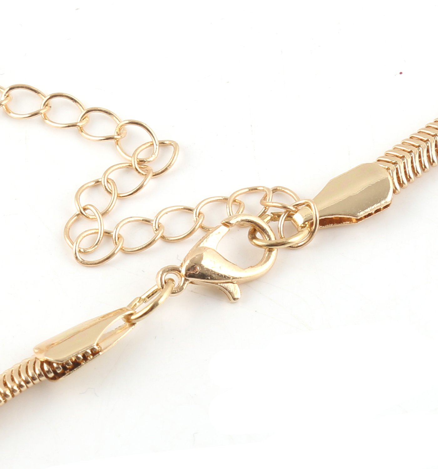 VOGUEKNOCK Long Knotted Necklace Flat Snake Chain with Tassel Pedant Y Lariat Necklace Gold
