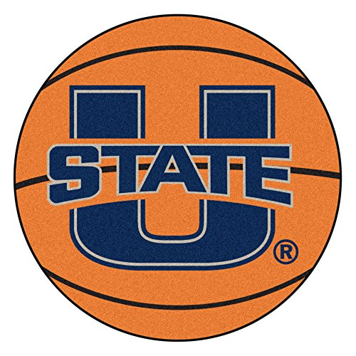 NCAA Utah State University Aggies Basketball Shaped Mat Area Rug ()