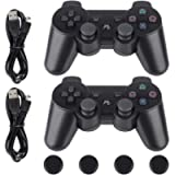 PS3 Controller-Six Axis Retropie Controller Support Wireless Bluetooth Dual Shock for Playstation 3 with Charging Cable…